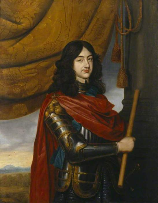 van Honthorst, Gerrit; Charles II (1630-1685), as a Young Man in Exile; National Trust, Ashdown House; http://www.artuk.org/artworks/charles-ii-16301685-as-a-young-man-in-exile-218054